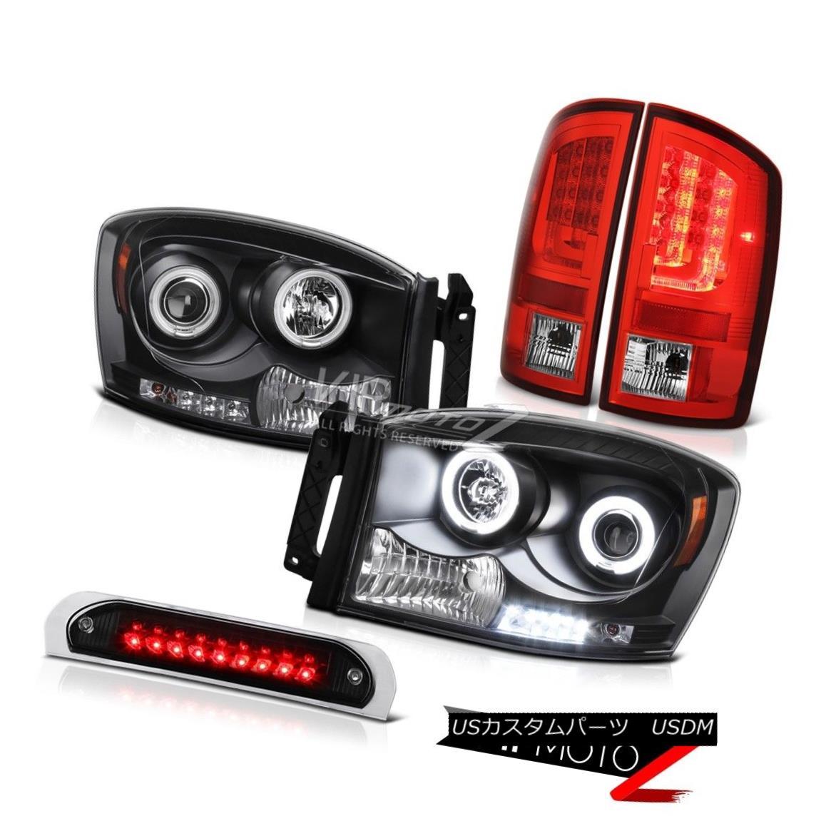 テールライト 2006 Ram SLT Red Taillamps Roof Cab Lamp Headlamps Tron STyle LED