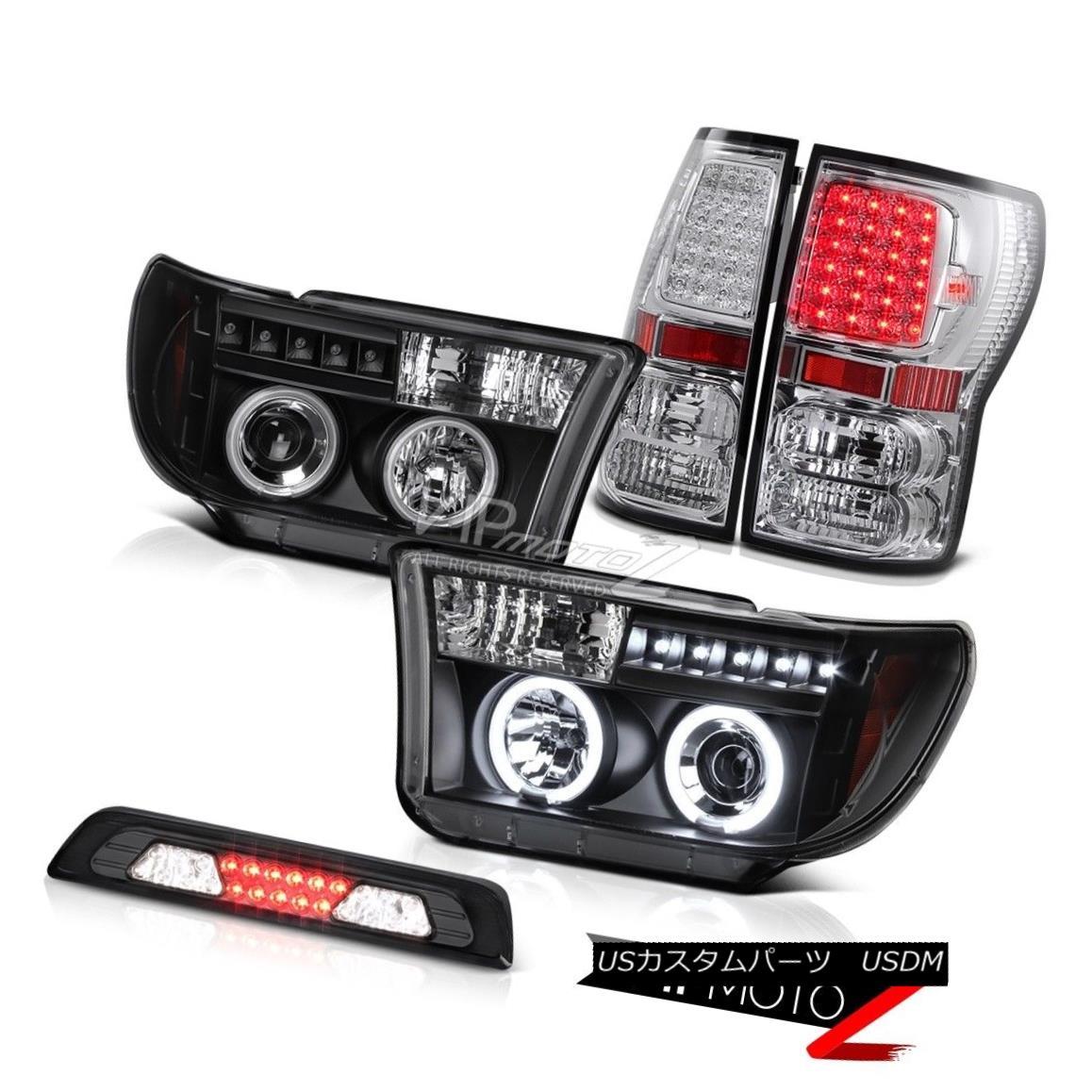 テールライト 07-13 Toyota Tundra SR5 Third Brake Light Tail Lamps Raven Black Headlamps SMD 07-13トヨタトンドラSR5第3ブレーキライトテールランプレーブブラックヘッドランプSMD
