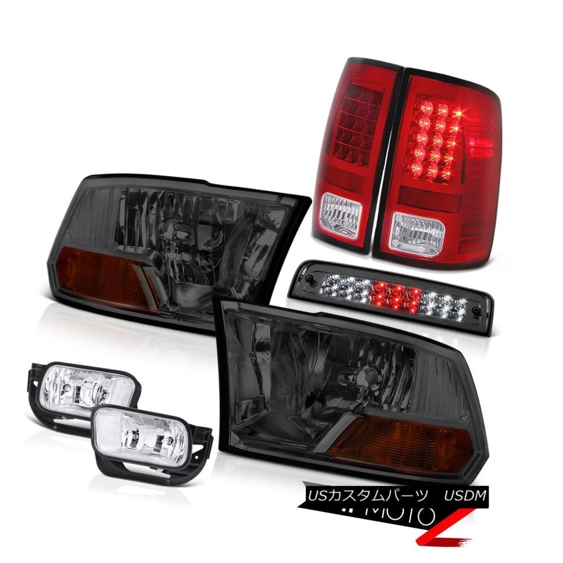 テールライト 09-13 Dodge Ram 1500 5.7L Foglights High Stop Light Red Tail Lights Headlamps 09-13 Dodge Ram 1500 5.7L Foglightsハイストップライトレッドテールライトヘッドランプ