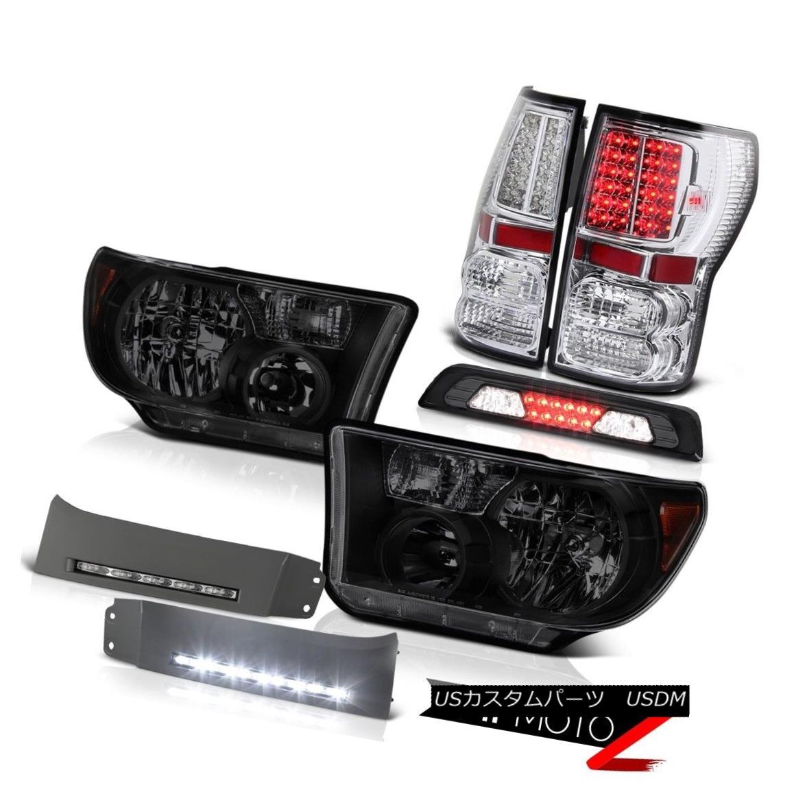 テールライト 07-13 Toyota Tundra Limited Headlamps DRL Strip Smoked Roof Cab Light Tail Lamps 07-13 Toyota Tundra LimitedヘッドランプDRLストリップスモークルーフキャブライトテールランプ