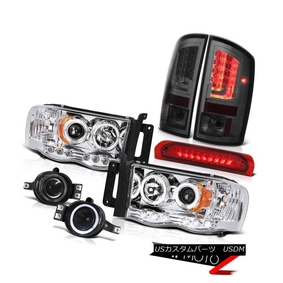 テールライト 02-05 Ram 1500 2500 3500 5.9L Tail Lamps Headlamps Fog Lights 3RD Brake Lamp LED 02-05 Ram 1500 2500 3500 5.9Lテールランプヘッドランプフォグライト3RDブレーキランプLED
