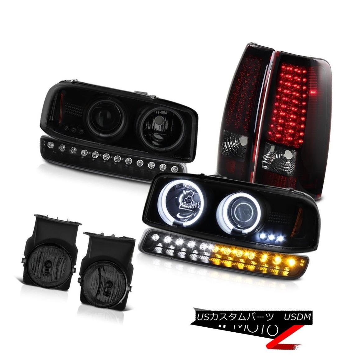 テールライト 03-06 Sierra 6.6L Fog lamps led taillamps black signal light sinister Headlamps 03-06シエラ6.6Lフォグランプはテールライトを導いた黒の信号光不吉なヘッドランプ