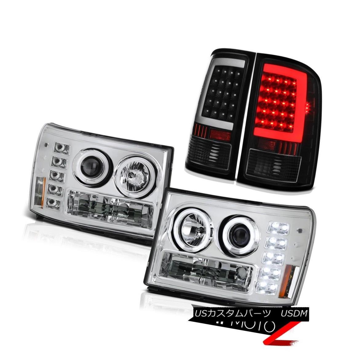 テールライト 07-13 Gmc Sierra 1500 SLT Inky Black Taillamps Headlamps Light Bar Ccfl Rim Cool 07-13 Gmc Sierra 1500 SLT Inky Black TaillampsヘッドランプライトバーCcfl Rim Cool
