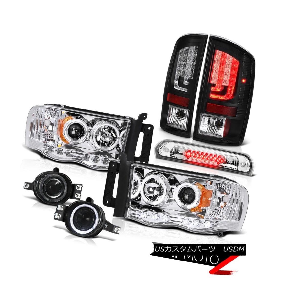 テールライト 02-05 Ram 1500 2500 3500 SLT Taillights Chrome Headlamps Foglamps 3RD Brake Lamp 02-05 Ram 1500 2500 3500 SLTテールライトクロームヘッドランプフォグランプ3RDブレーキランプ