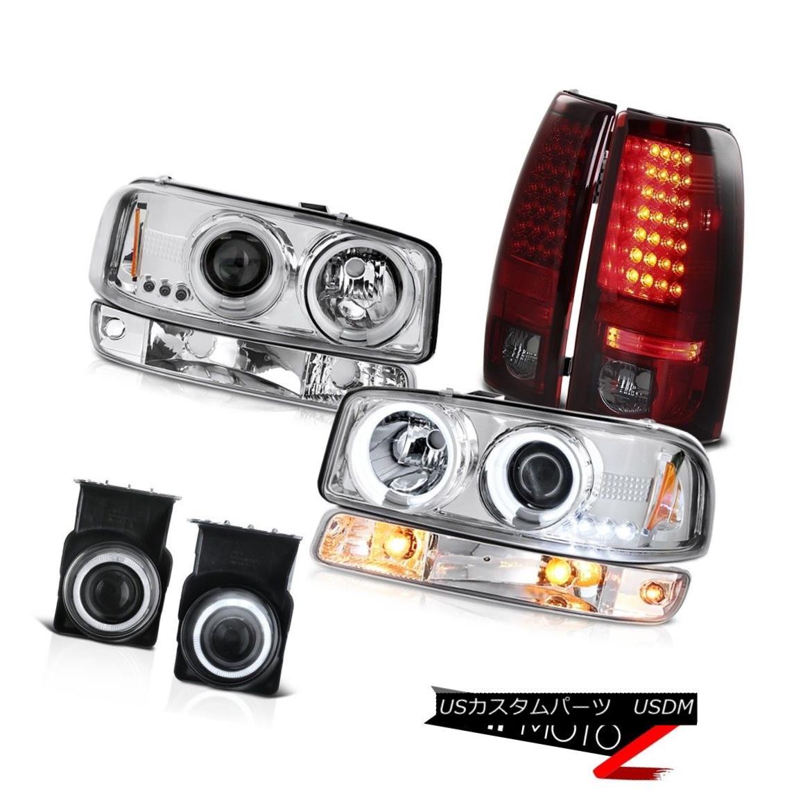 テールライト 03-06 Sierra 1500 Chrome fog lights rear led brake turn signal ccfl Headlamps 03-06シエラ1500クロームフォグライトリアブレーキブレーキターンシグナルccflヘッドランプ