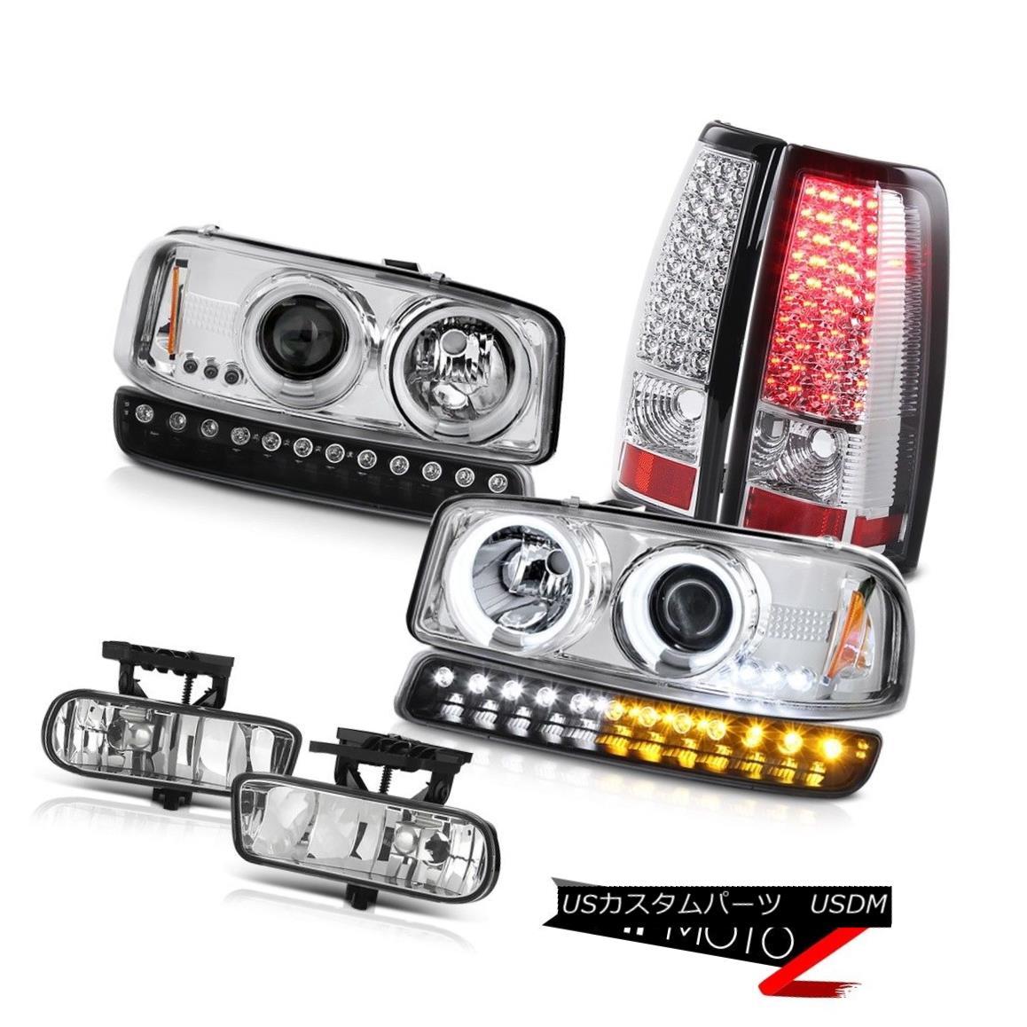テールライト 99-02 Sierra 4.3L Chrome fog lamps smd tail turn signal ccfl projector Headlamps 99-02シエラ4.3Lクロームフォグランプsmdテールターンシグナルccflプロジェクターヘッドランプ