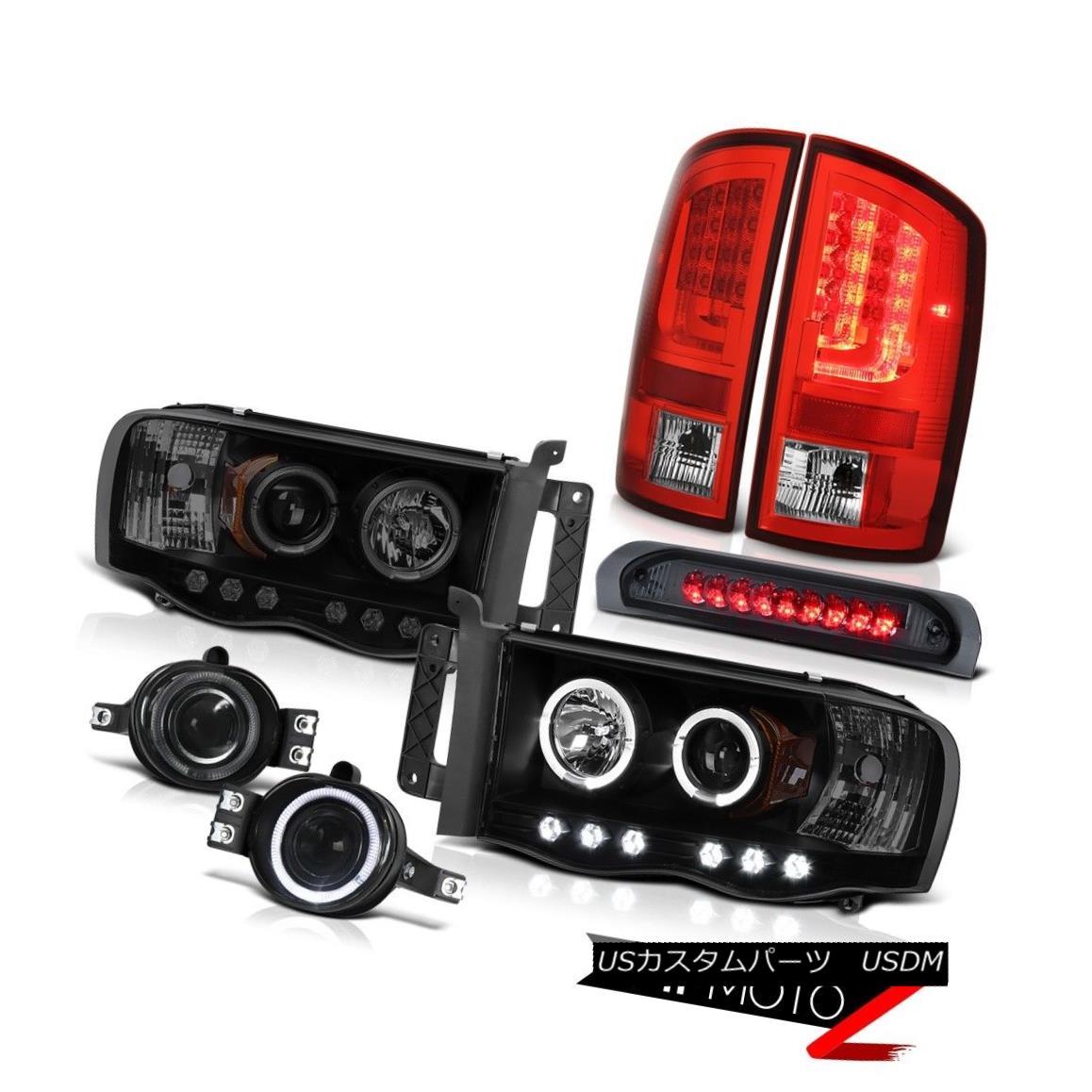 テールライト 2003-2005 Dodge Ram 3500 ST Tail Lamps Headlamps Fog Roof Cab Lamp LED Dual Halo 2003-2005 Dodge Ram 3500 STテールランプヘッドランプ霧屋根キャブランプLEDデュアルヘイロー