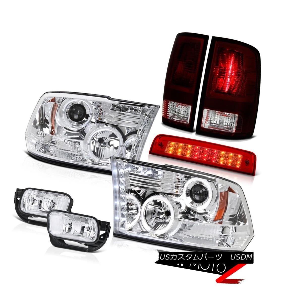 テールライト 10-18 Ram 2500 3500 6.4L Red Clear Roof Cargo Lamp Fog Lamps Tail Headlamps SMD 10-18 Ram 2500 3500 6.4L赤いクリア屋根貨物ランプフォグランプテールヘッドランプSMD