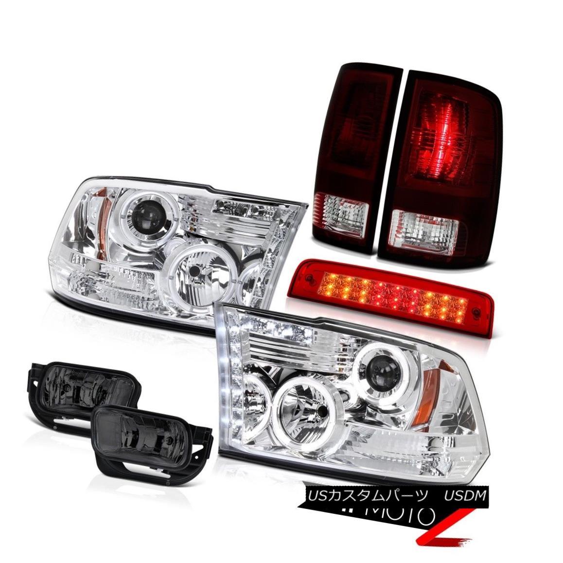 テールライト 2010-2018 Ram 3500 6.7L Red Roof Cab Lamp Fog Lights Tail Chrome Headlights LED 2010-2018 Ram 3500 6.7Lレッド・ルーフ・キャブ・ランプフォグ・ライト・テール・クローム・ヘッドライトLED