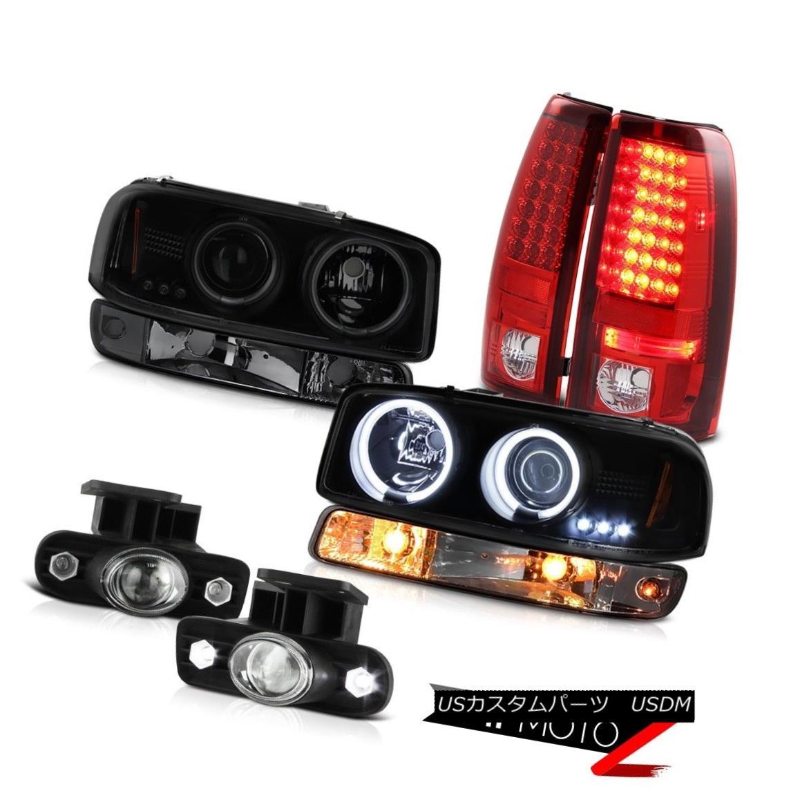 テールライト 99-02 Sierra WT Fog lamps wine red led tail brake signal lamp ccfl Headlamps 99-02シエラWTフォグランプワインレッドテールブレーキ信号ランプccflヘッドランプ