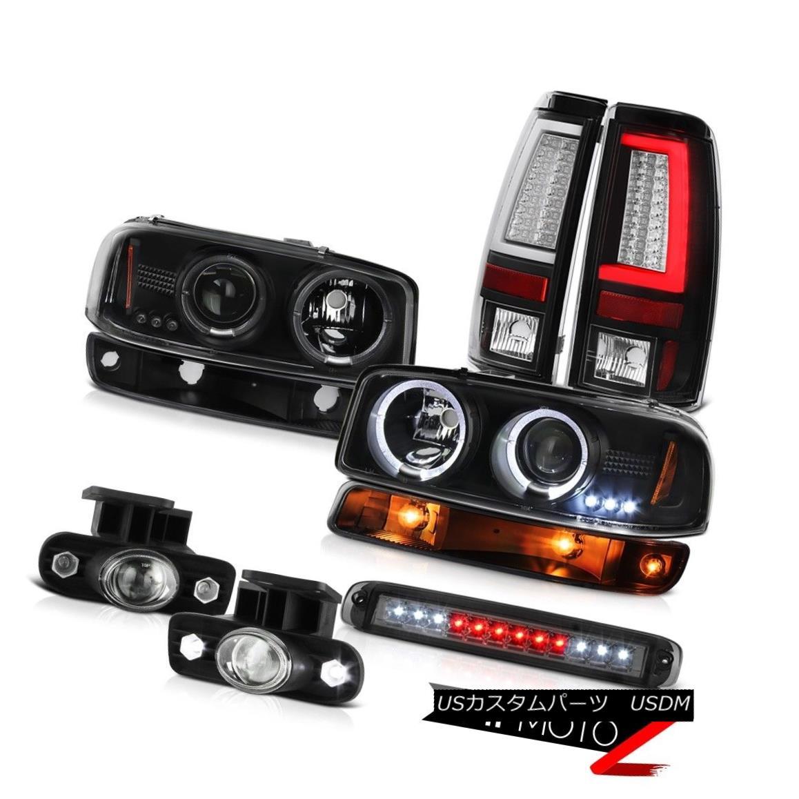 テールライト 99-02 Sierra 3500HD Taillamps Roof Cab Lamp Bumper Foglamps Headlights Dual Halo 99-02 Sierra 3500HDタイルランプルーフキャブランプバンパーフォグランプヘッドライトデュアルヘイロー