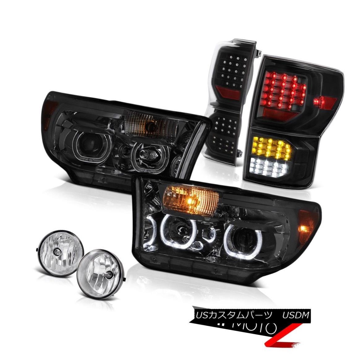 テールライト 07-13 Toyota Tundra SR5 Taillamps Smoked Headlamps Fog Lights SMD