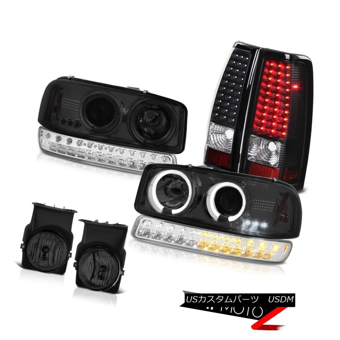 テールライト 2003-2006 Sierra WT Foglamps LED Tail Lamps Clear Chrome Parking Lamp Headlights 2003-2006 Sierra WT Foglamps LEDテールランプクリアクロームパーキングランプヘッドライト