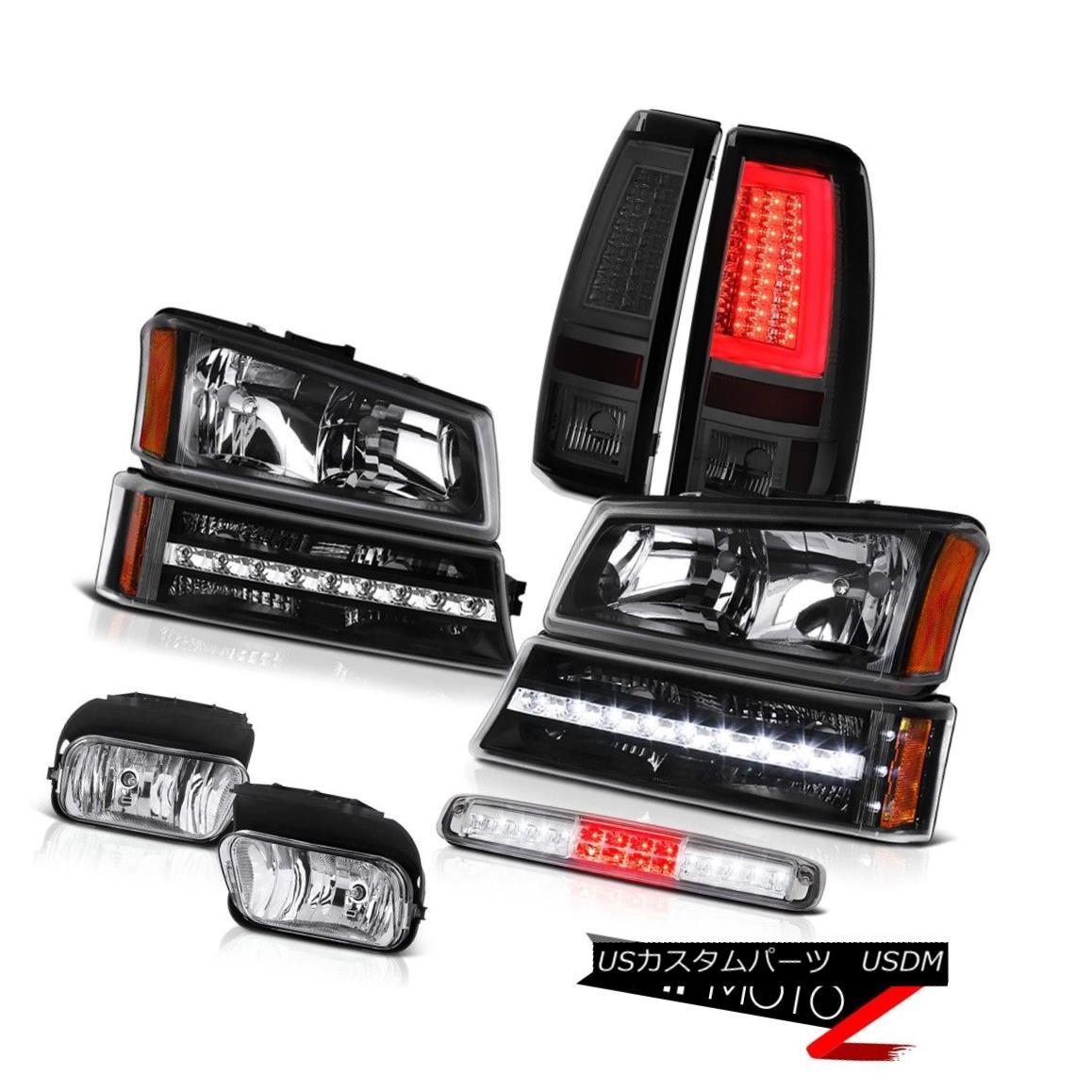 テールライト 03-06 Chevy Silverado Taillamps Fog Lamps Roof Cab Light Headlights Parking LED 03-06 Chevy Silverado TaillampsフォグランプルーフキャブライトヘッドライトパーキングLED