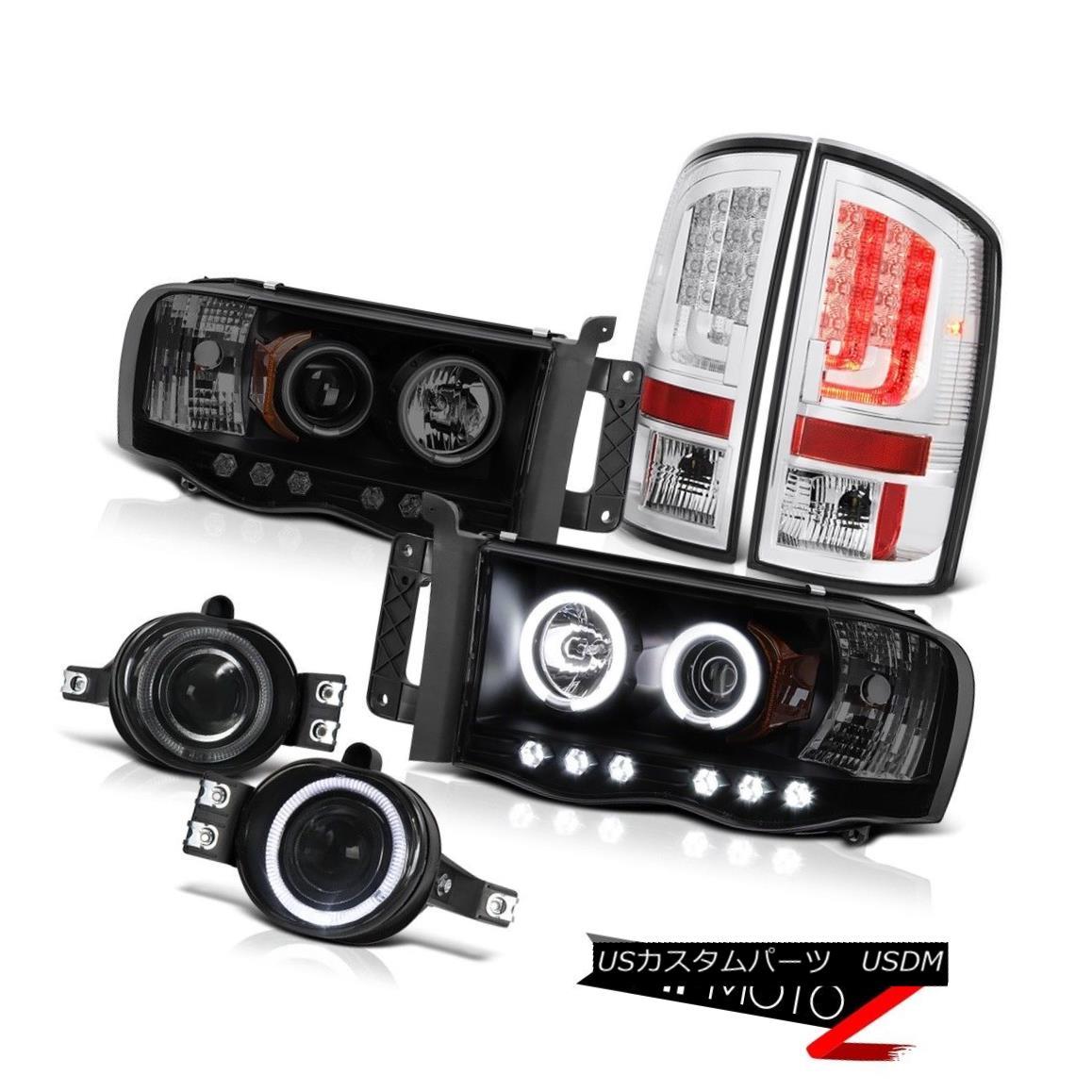 テールライト 02-05 Dodge Ram 1500 1500 3.7L Chrome Tail Lights Projector Headlights Fog Cool 02-05ダッジラム1500 1500 3.7Lクロームテールライトプロジェクターヘッドライトフォグクール