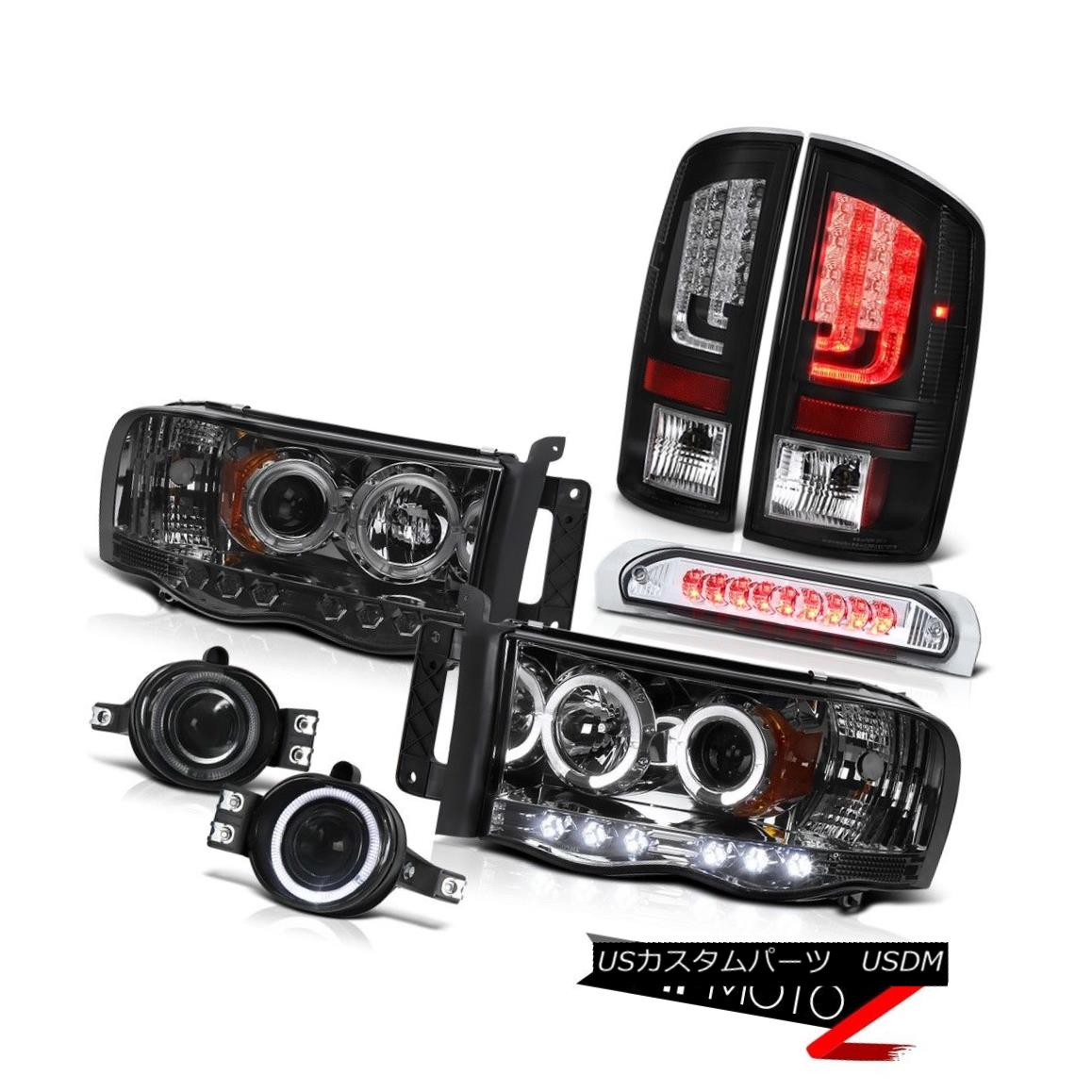 テールライト 2002-2005 Dodge Ram 1500 ST Tail Lamps Headlamps Fog Third Brake Lamp Tron Tube 2002-2005 Dodge Ram 1500 STテールランプヘッドランプフォグ第3ブレーキランプTron Tube