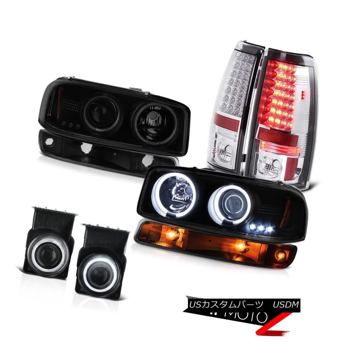 テールライト 03-06 Sierra 3500HD Foglights tail brake lights parking lamp ccfl headlights 03-06シエラ3500HDフォグライトテールブレーキライトパーキングランプccflヘッドライト