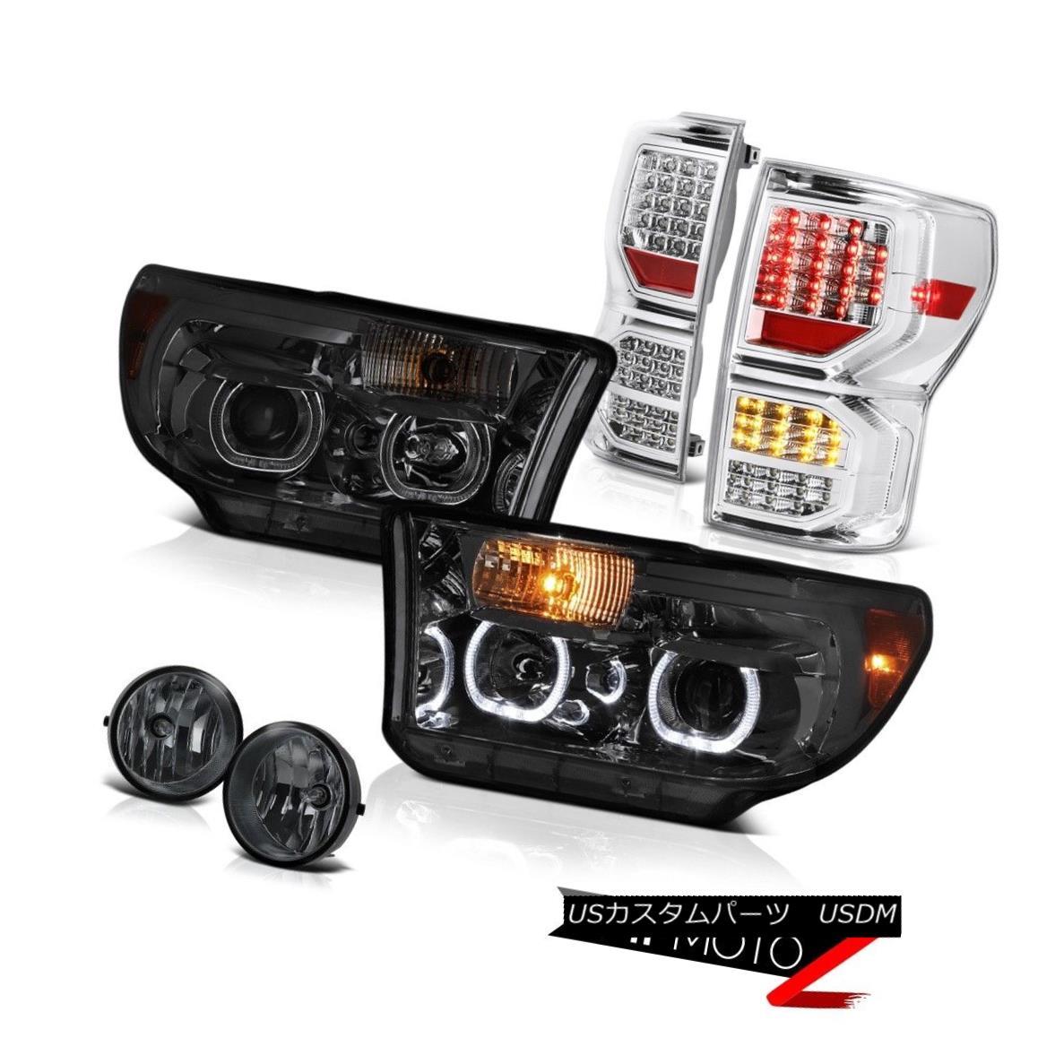 テールライト 07-13 Toyota Tundra Limited Sterling Chrome Tail Lamps Headlights Fog Lights SMD 07-13トヨタ・トンドラ限定スターリングクロームテールランプヘッドライトフォグライトSMD