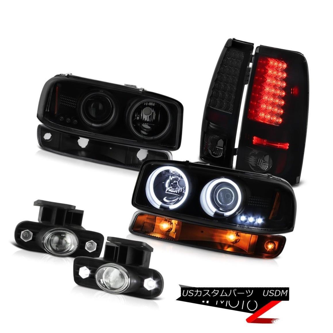 テールライト 99-02 Sierra SLE Foglights led taillamps matte black signal lamp ccfl headlights 99-02シエラSLE Foglightsはテールランプマットブラックシグナルランプccflヘッドライトを導いた
