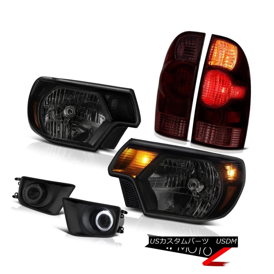 テールライト 12-15 Toyota Tacoma X-Runner Smokey fog lamps headlights tail lights OE Style 12-15トヨタタコマXランナースモーキーフォグランプヘッドライトテールライトOEスタイル