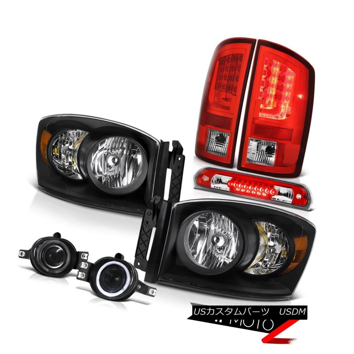 テールライト 07-08 Dodge Ram 1500 WS Taillamps Headlights Foglamps 3RD Brake Light Assembly 07-08ダッジラム1500 WSタイヤランプヘッドライトフォグランプ3RDブレーキライトアセンブリ
