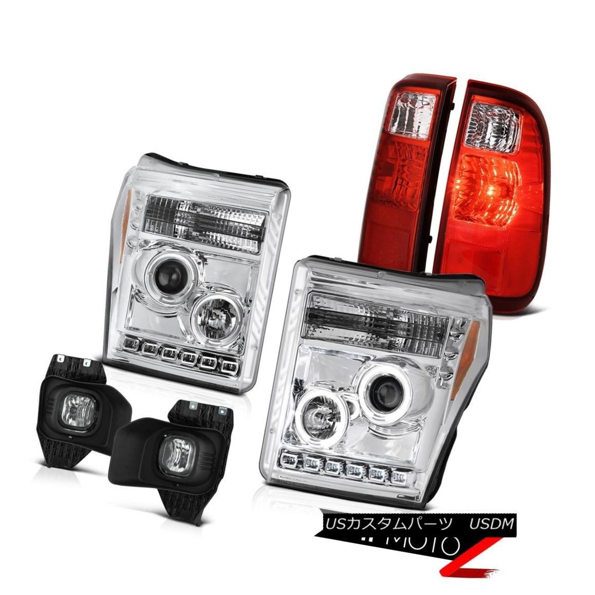 テールライト 2011-2016 Ford F350 Superduty Chrome Fog Lamps Red Taillamps Headlights Assembly 2011-2016 Ford F350 Superdutyクロームフォグランプ赤いタイルランプヘッドライトアセンブリ