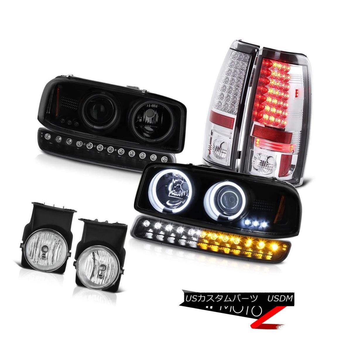テールライト 03-06 Sierra 5.3L Euro chrome fog lamps taillamps black bumper lamp headlights 03-06シエラ5.3Lユーロクロームフォグランプテールランプブラックバンパーランプヘッドライト