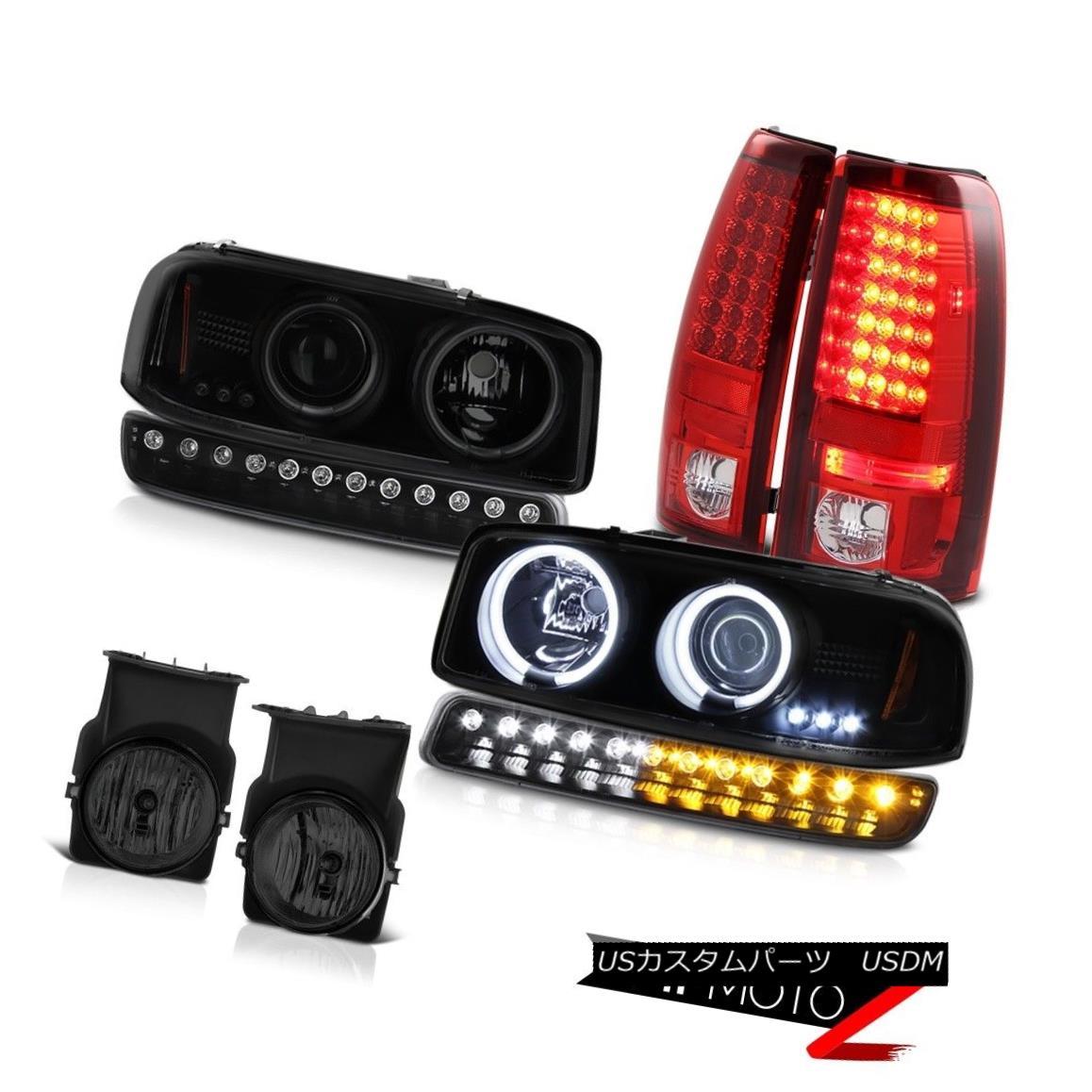 テールライト 03-06 Sierra 6.6L Foglamps rear brake lights turn signal dark tinted headlamps 03-06シエラ6.6Lフォグランプのリアブレーキライトは、暗い色のヘッドライトを点灯させる