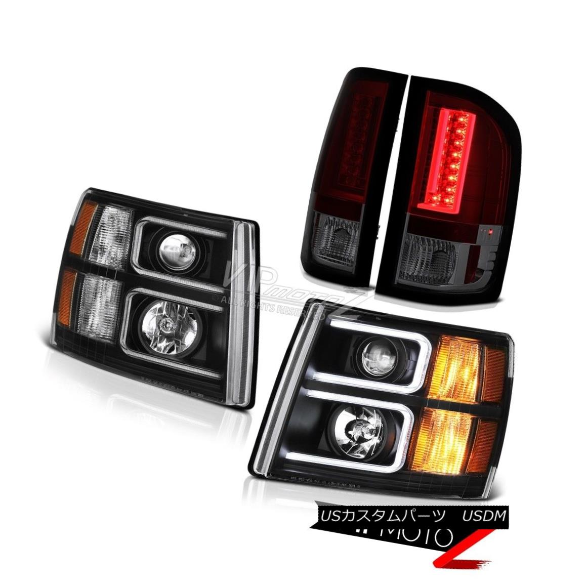 テールライト 2007-2013 Silverado LS Smokey Red Taillights Headlamps Neon Tube