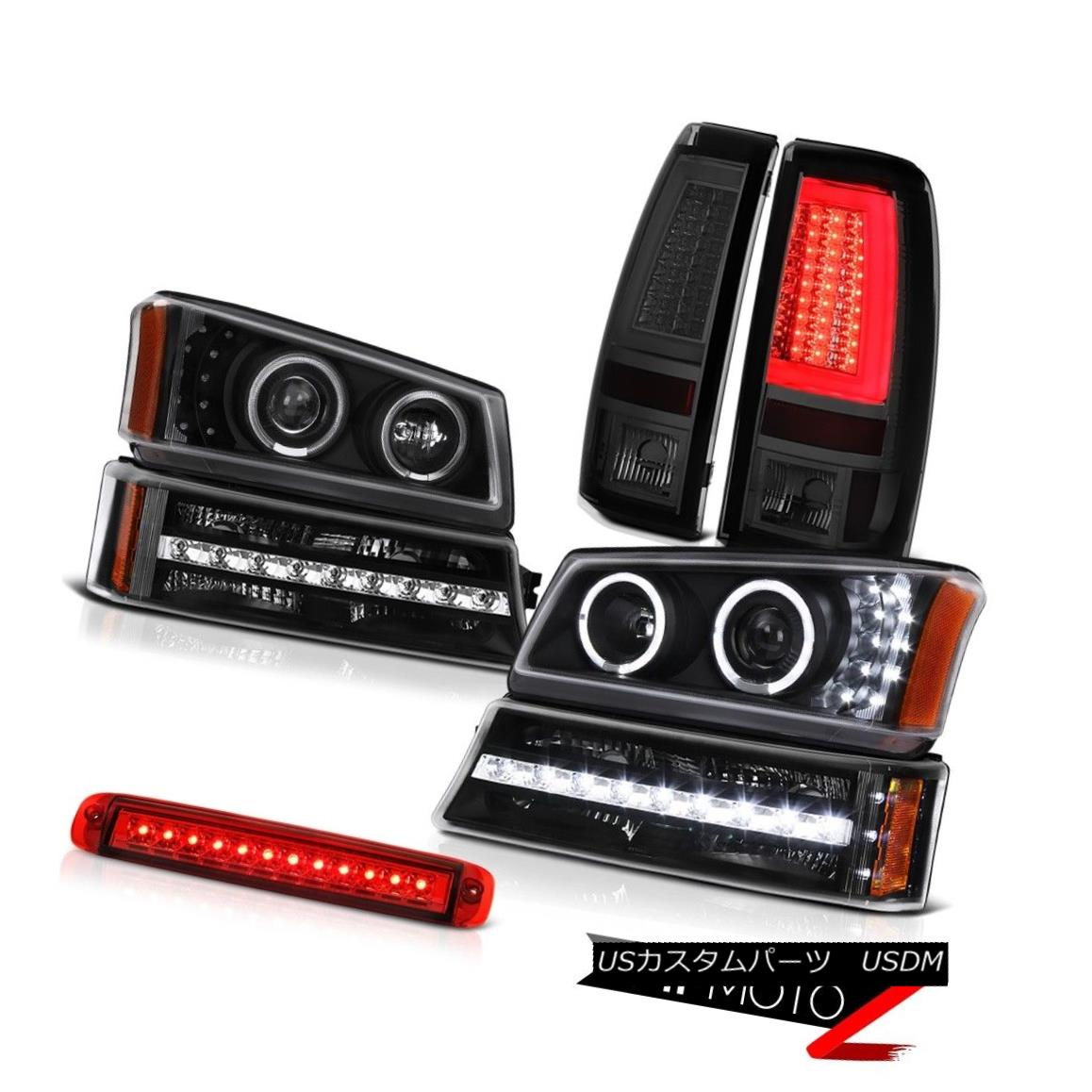 テールライト 03-06 Silverado 1500 Tail Brake Lights 3RD Lamp Headlamps Turn Signal Angel Eyes 03-06 Silverado 1500テールブレーキライト3RDランプヘッドランプターンシグナルエンジェルアイズ