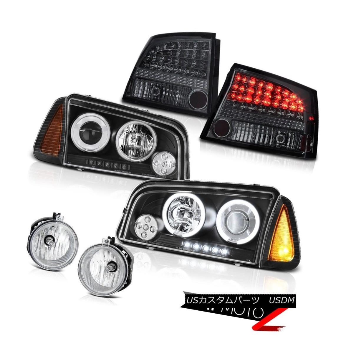 テールライト 2009-2010 Dodge Charger DUB Euro clear foglights taillamps signal lamp headlamps 2009-2010ダッジチャージャーDUBユーロクリアフォグライトテールランプ信号ランプヘッドランプ