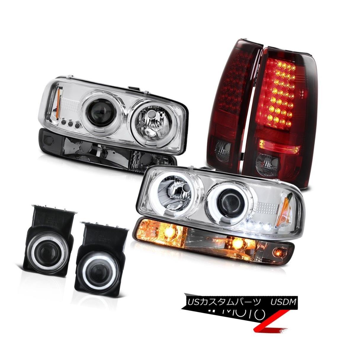 テールライト 03-06 Sierra C3 Foglights led taillamps smokey signal lamp ccfl headlamps LED 03-06シエラC3フォグライトはテールランプスモイシグナルランプを導いたccflヘッドライトLED