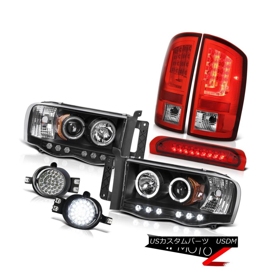 テールライト 2002-2005 Dodge Ram 1500 3.7L Red Taillamps Headlamps Fog Lights 3RD Brake Light 2002-2005 Dodge Ram 1500 3.7L赤いタイルランプヘッドランプフォグライト3RDブレーキライト