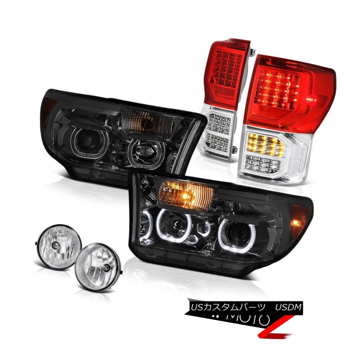 テールライト 07-13 Toyota Tundra Platinum Red Tail Lights Smokey Headlamps Fog