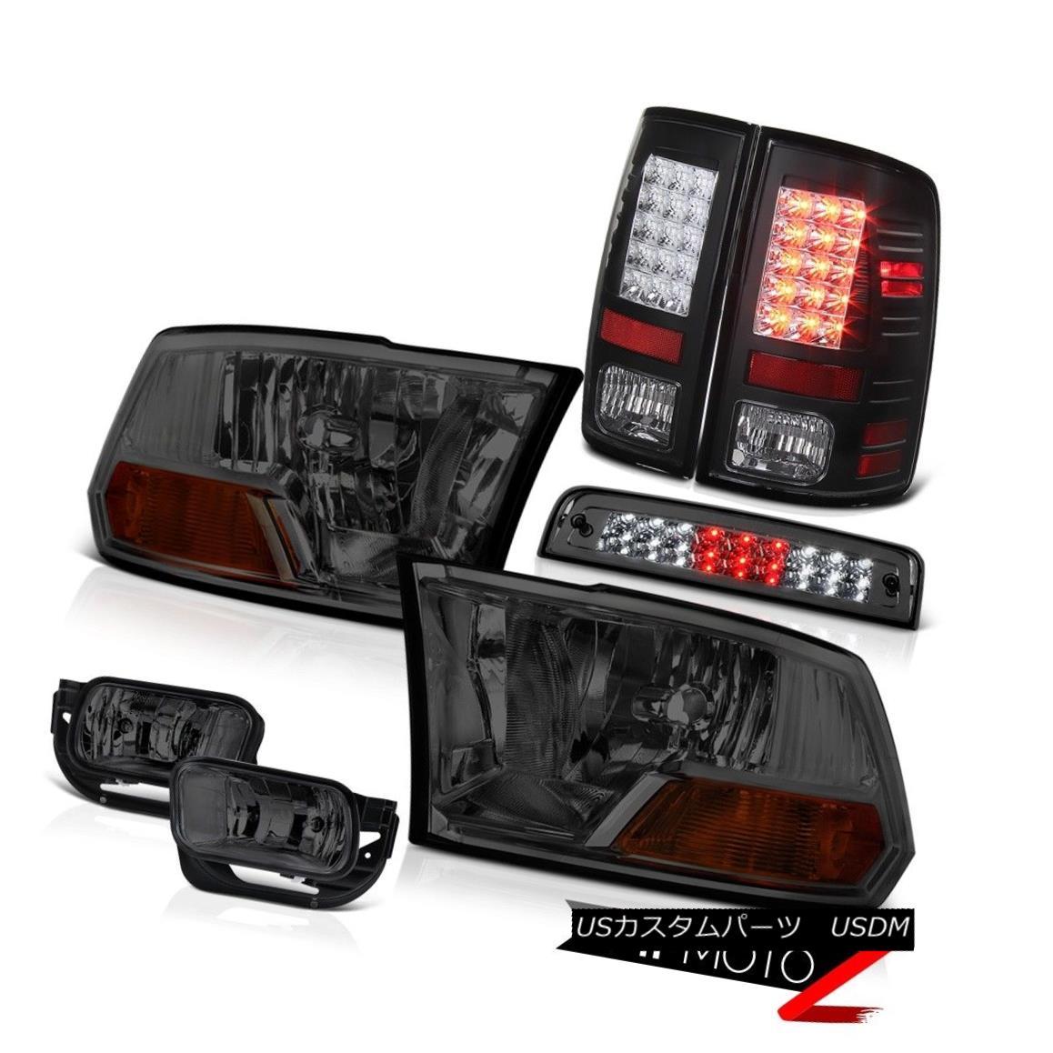 テールライト 09-13 Dodge Ram 1500 5.7L Fog Lamps 3RD Brake Light Tail Headlamps