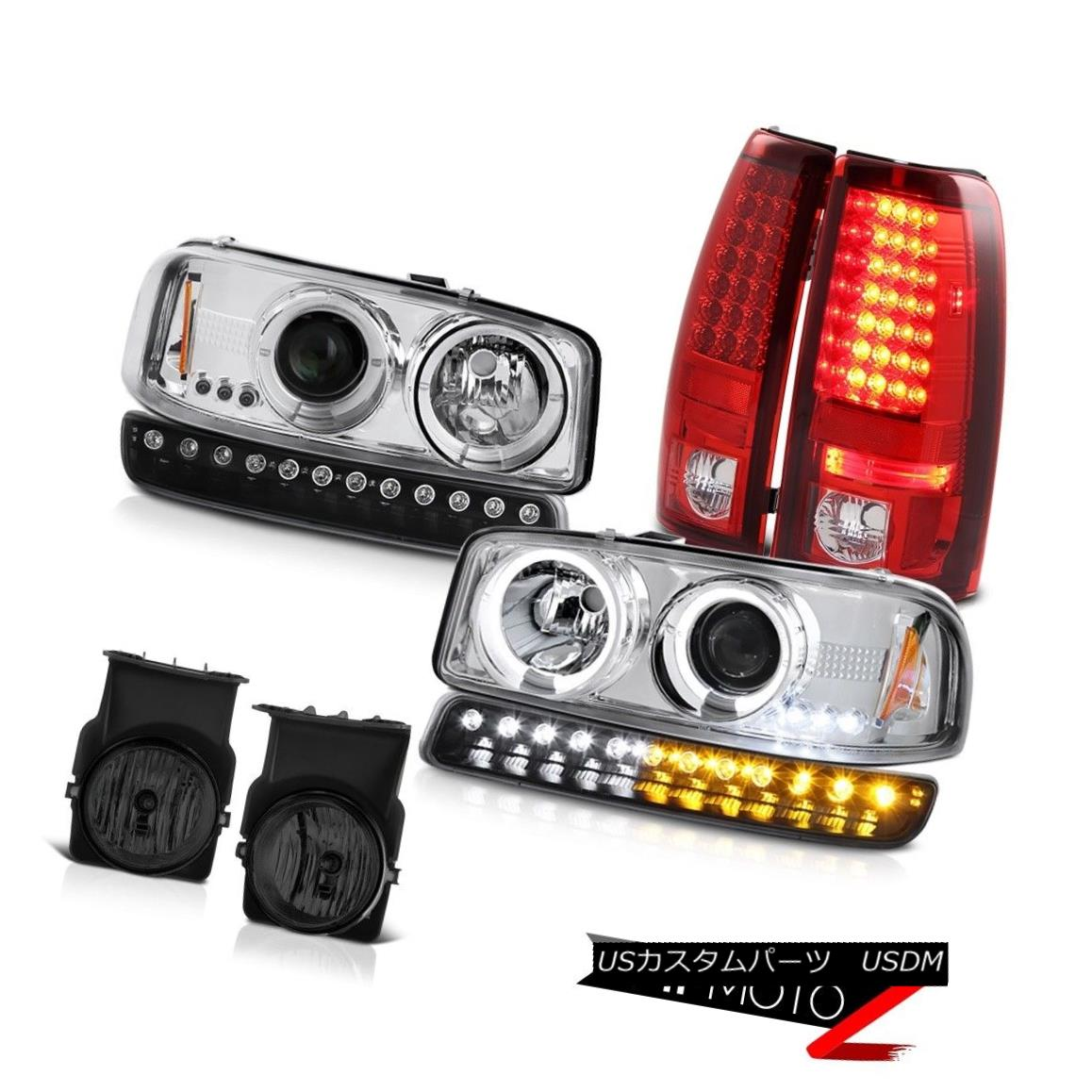 テールライト 03-06 Sierra 2500 Foglights red clear taillamps signal lamp projector headlamps 03-06 Sierra 2500 Foglights赤色クリアテールランプ信号ランププロジェクターヘッドランプ