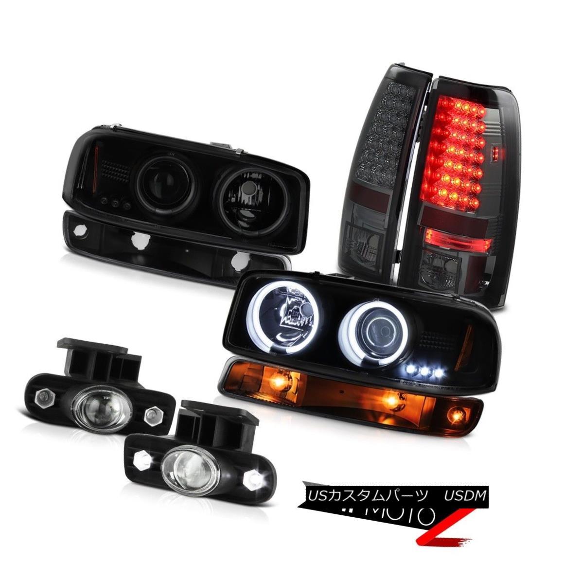 テールライト 1999-2002 Sierra GMT800 Foglights smd taillamps black bumper lamp ccfl headlamps 1999-2002シエラGMT800フォグライトsmdテールランプブラックバンパーランプccflヘッドライト