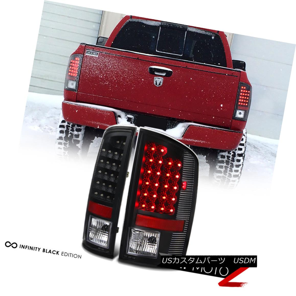 テールライト [NEW BLACK] 2002-2006 Dodge Ram 1500 LED Rear Tail Light Tail Lamp LH+RH BRAKE [NEW BLACK] 2002-2006 Dodge Ram 1500 LEDリアテールライトテールランプLH + RH BRAKE
