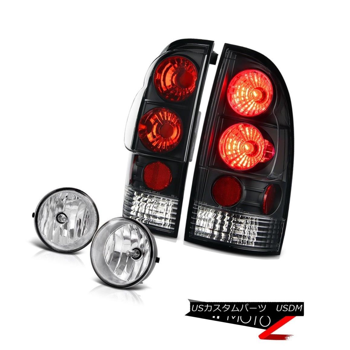 テールライト 2005-2011 Toyota Tacoma Black Red JDM Style Rear Tail Lights Clear Foglight Lamp 2005-2011トヨタタコマブラックレッドJDMスタイルリアテールライトクリアフォグライトランプ