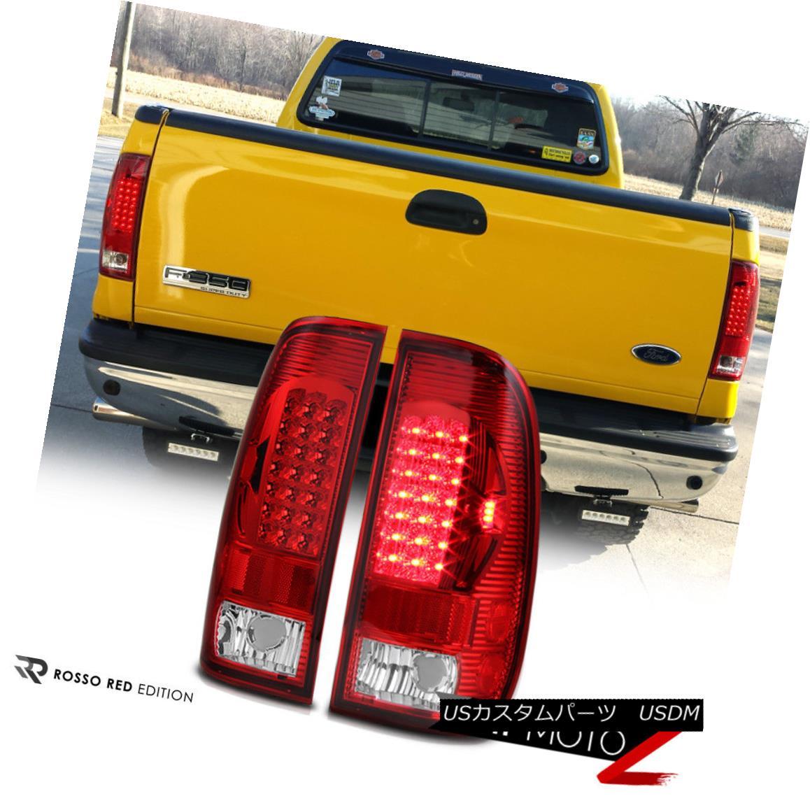 テールライト 97-03 Ford F150 RED/CLEAR LED Brake Signal Tail Light Lamps Left+Right Assembly 97-03 Ford F150 RED / CLEAR LEDブレーキ信号テールライトランプ左右アセンブリ