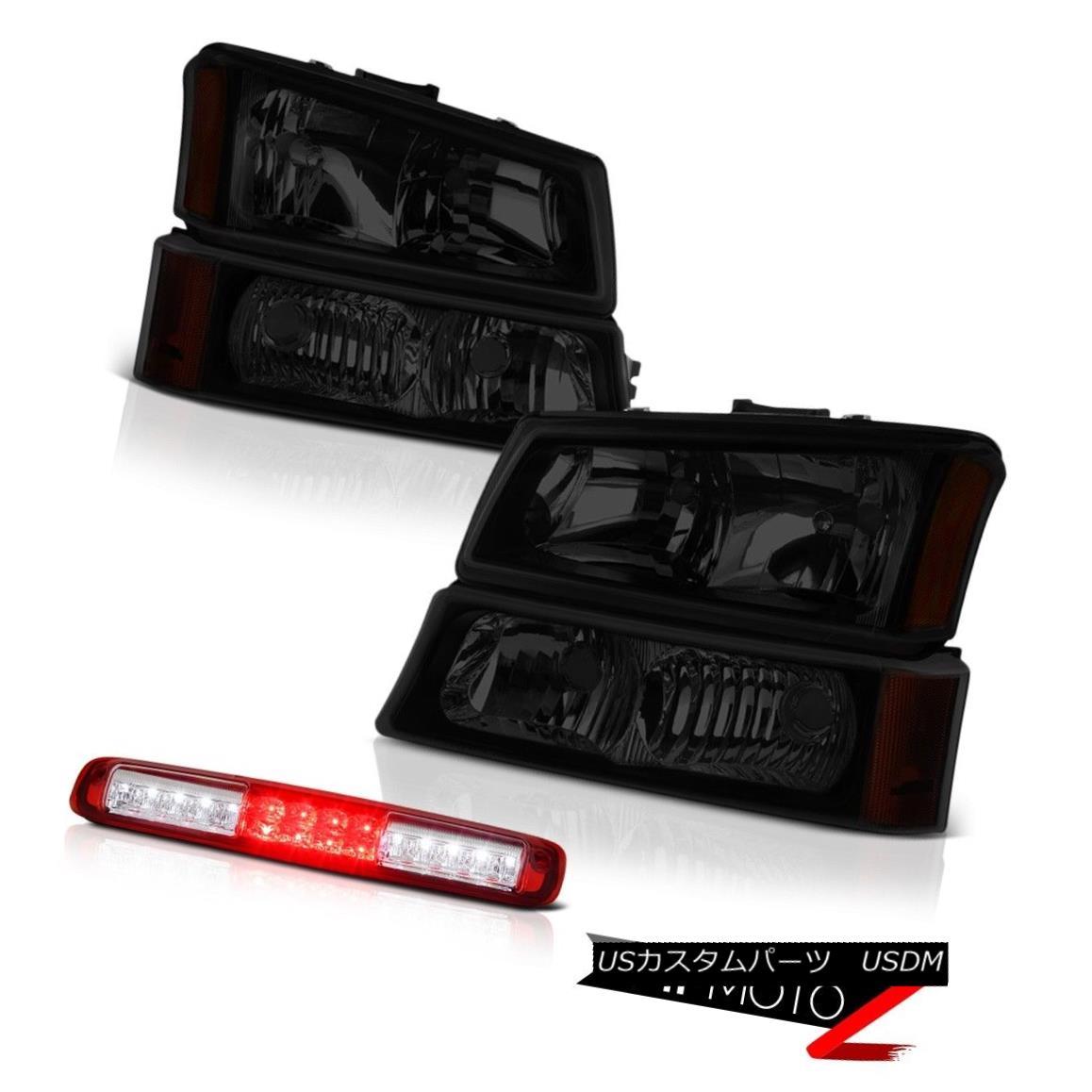 テールライト 03 04 05 06 Silverado Wine Red Roof Cab Light Dark Tinted Headlamps Replacement 03 04 05 06シルバラードワインレッドルーフキャブライトダークティンテッドヘッドランプ交換