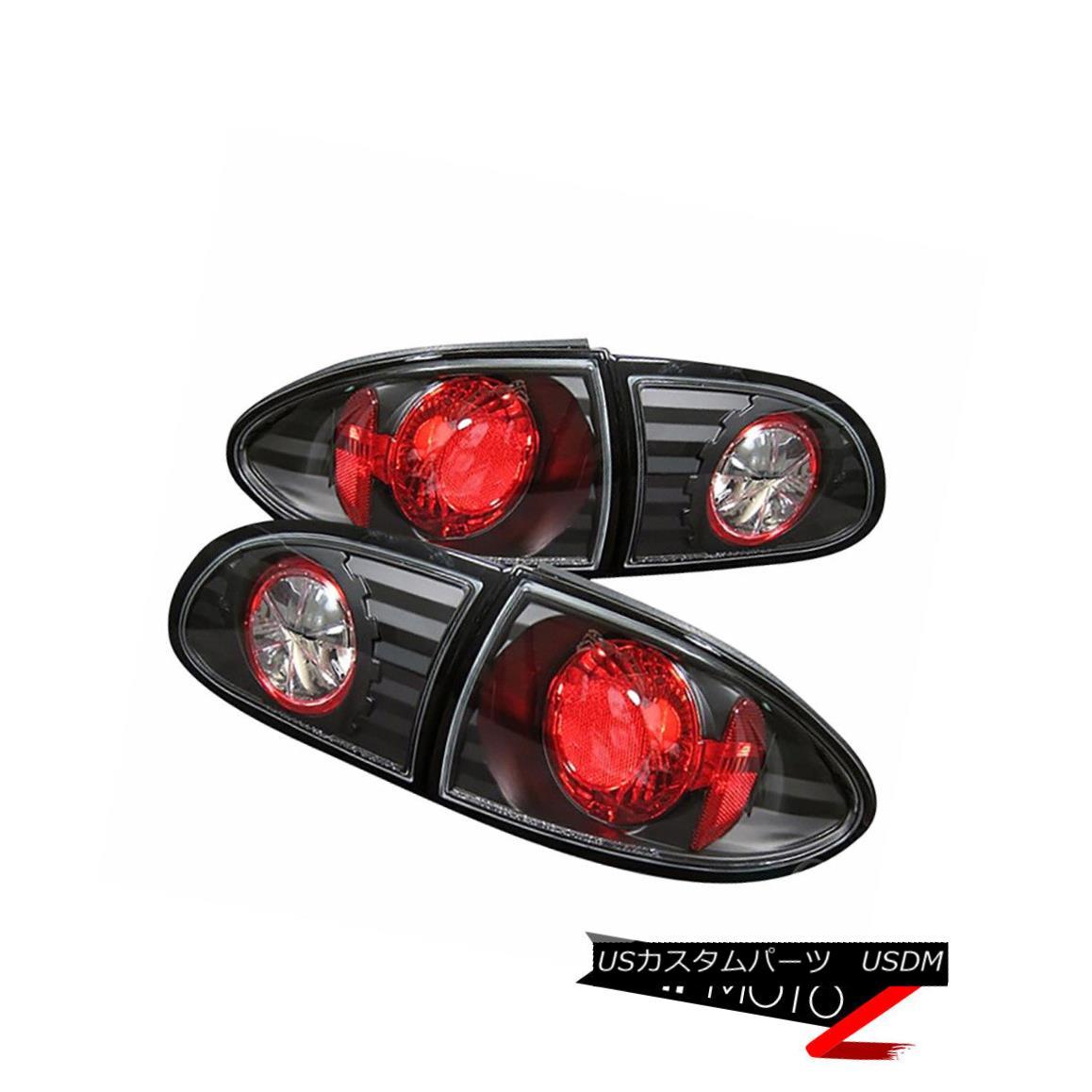テールライト !DEALZ! 95-02 Chevy Cavalier Sport Coupe Sedan Black Tail Lights Lamp Pair LH RH !DEALZ! 95-02シボレー・キャバリア・スポーツ・クーペセダン・ブラック・テール・ライトランプ・ペアLH RH