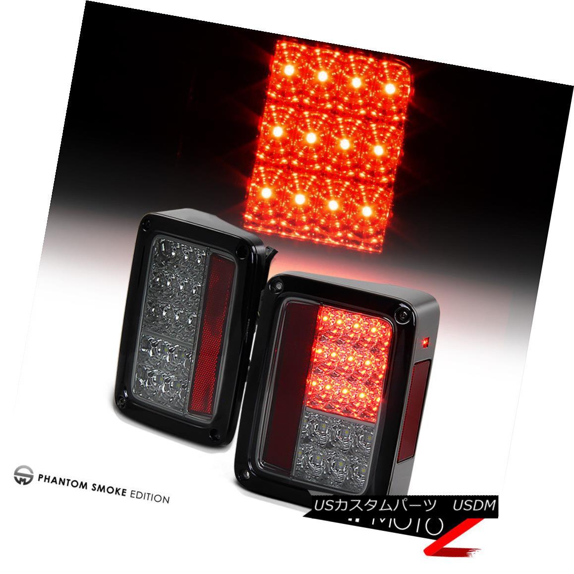 テールライト [ERROR FREE] Smoked Lens 2007-2018 Jeep Wrangler LED SMD Rear Tail Lights Lamps [ERROR FREE]スモークレンズ2007-2018ジープラングラーLED SMDリアテールライトランプ
