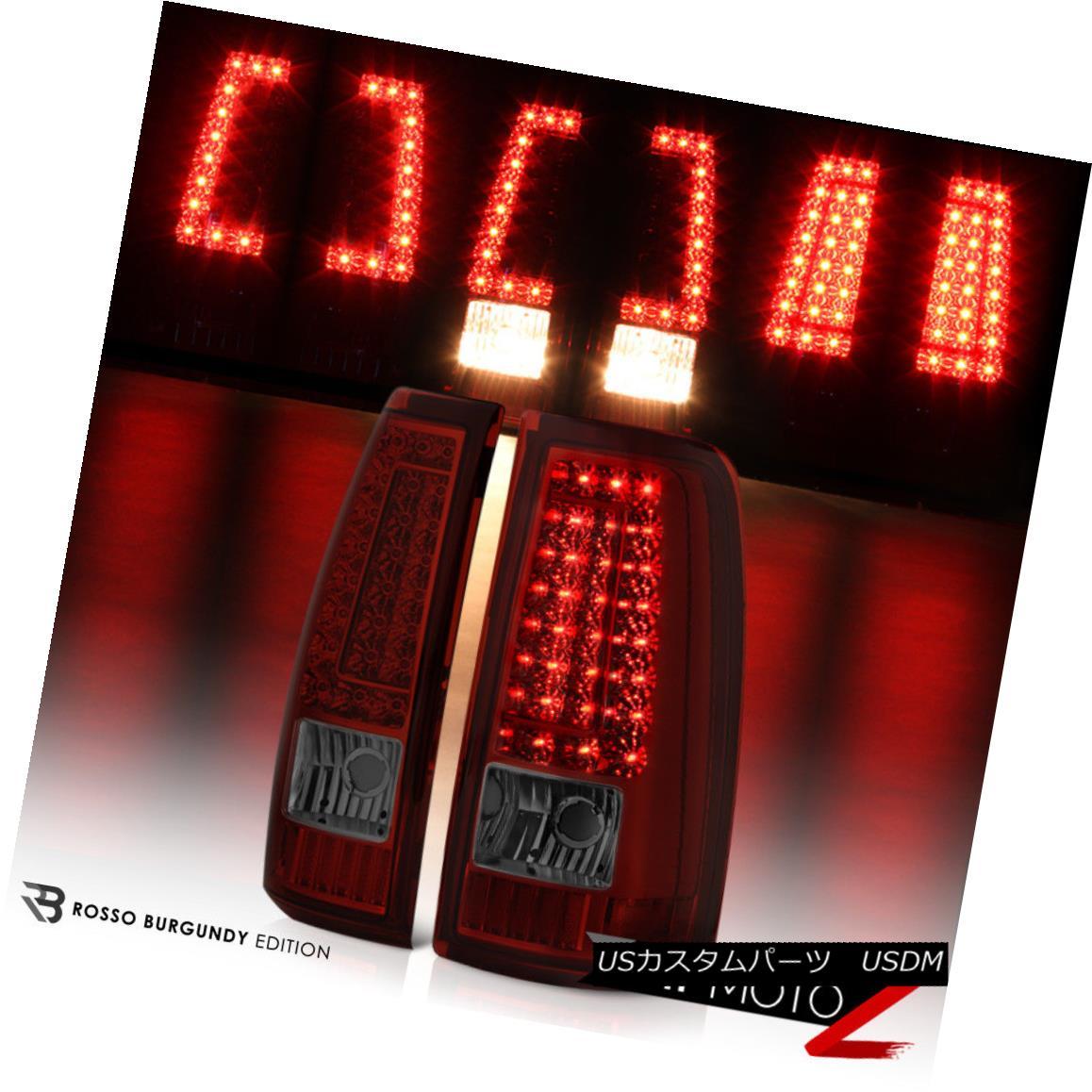 テールライト 99-02 Silverado Red Smoke LED Brake Signal Rear Tail Lights Lamps Assembly Pair 99-02 Silverado赤煙LEDブレーキ信号リアテールライトランプ組立組