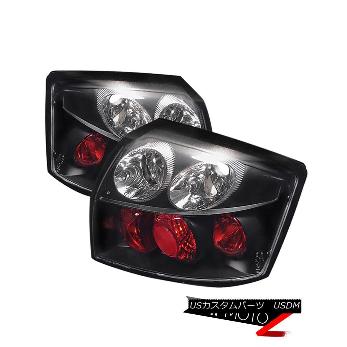 テールライト Audi 02-05 A4 S4 Quattro L+R Black Tail Lights Brake Turn Signal Lamp Assembly Audi 02-05 A4 S4 Quattro L + Rブラックテールライトブレーキターンシグナルランプアセンブリ