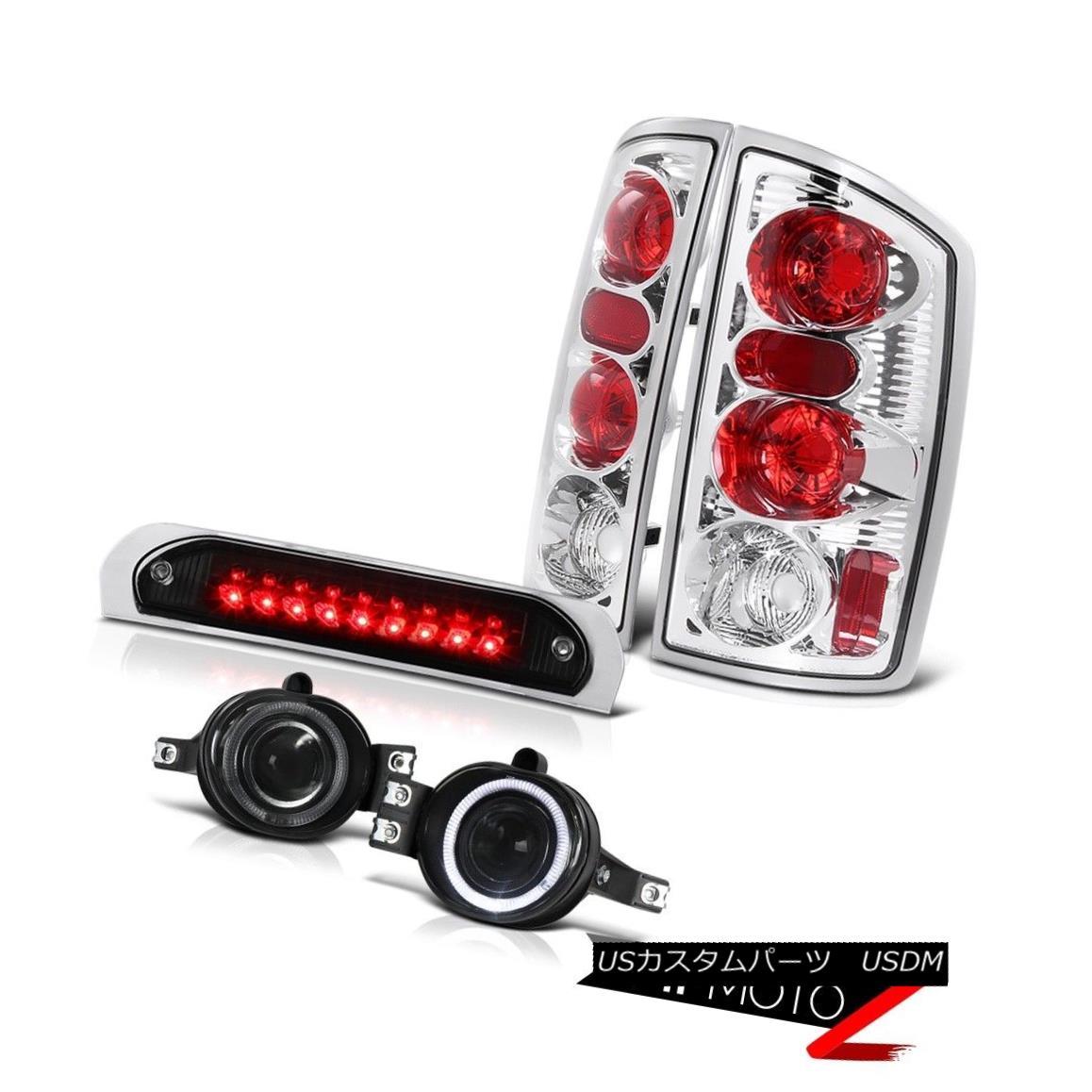 テールライト Euro Tail Lights Projector Driving Fog Black 3RD LED 02 03 04 05 Ram PowerTech ユーロテールライトプロジェクタードライビングフォグブラック3RD LED 02 03 04 05 Ram PowerTech
