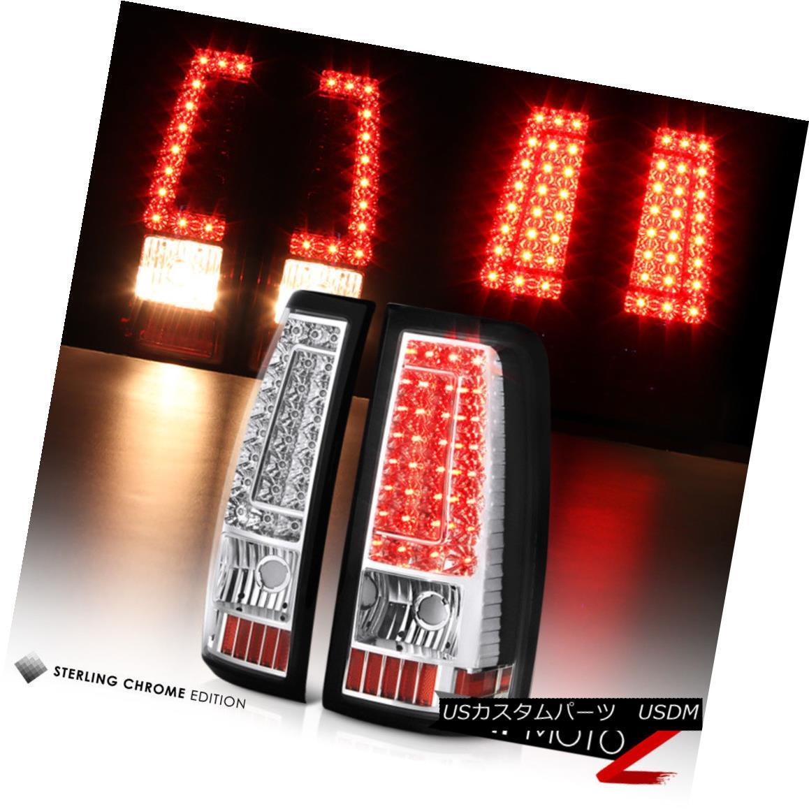 テールライト 2003 2004 2005 2006 Chevrolet Silverado Chrome LED Brake Tail Lights Assembly 2003 2004 2005 2006 Chevrolet Silverado Chrome LEDブレーキテールライトアセンブリ