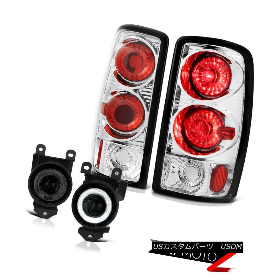 テールライト 2000-2006 Yukon XL Denali Altezza Tail Lights Projector LED DRL Fog Lamps Pair 2000-2006 Yukon XL Denali AltezzaテールライトプロジェクターLED DRLフォグランプペア