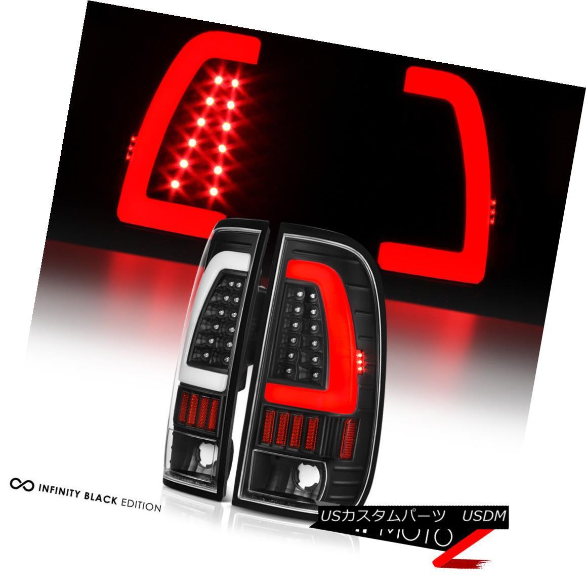 テールライト [NEWEST FiBeR OpTiC] 1997-2003 Ford F150 F250 Superduty Black LED Tail Lights [最新のFiBeR OpTiC] 1997-2003フォードF150 F250スーパーライトブラックLEDテールライト