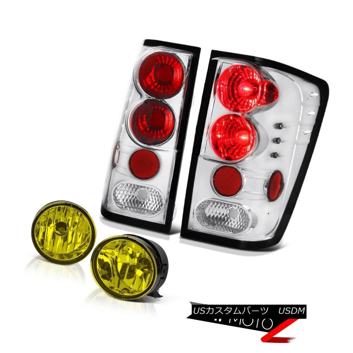 テールライト For 2004-2015 Titan SV Crystal Clear Tail Light Rear Lamp Yellow Bumper Foglight 2004年?2015年Titan SVクリスタルクリアテールライトリアランプイエローバンパーフォグライト